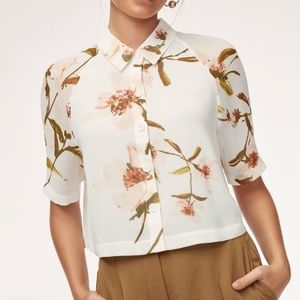 Wilfred Henrietta Floral Blouse Top NWT